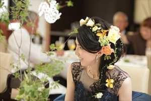 ヘア花飾り