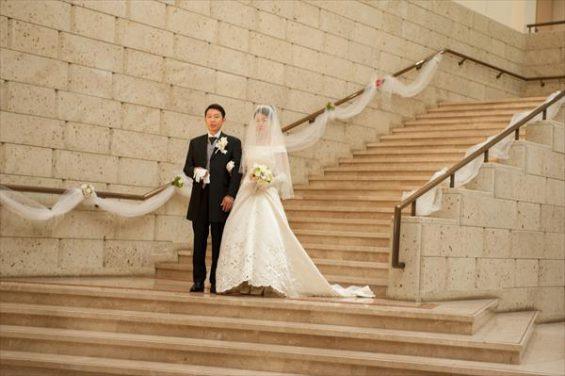 階段から入場
